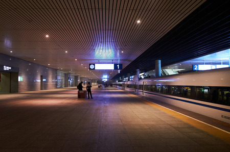 high-speed rail station Editorial