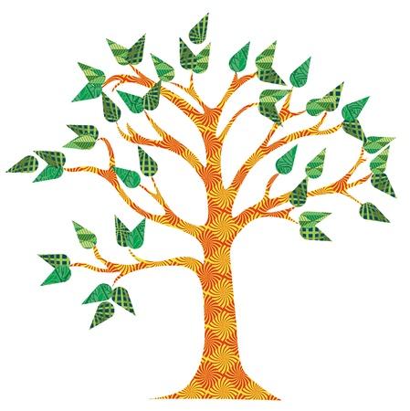 Pattern Modern Tree