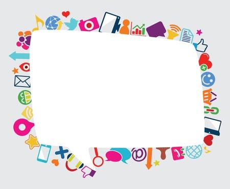 speech bubble social icon