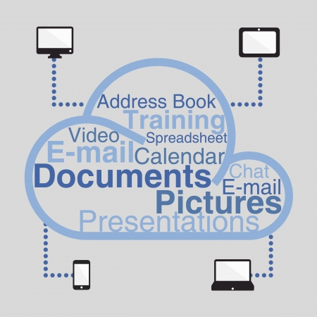 cloud computing in dark background Vector