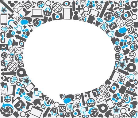 công nghệ: bài phát biểu bong bóng biểu tượng xã hội nền Hình minh hoạ