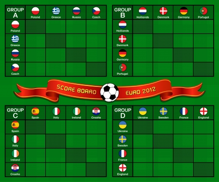 Euro 2012 Scoreboard Illustration