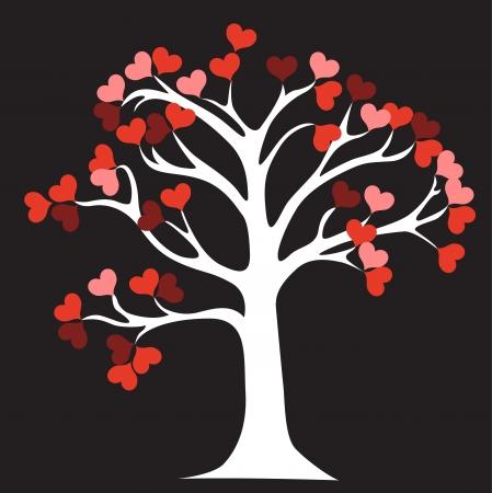 tree of life silhouette: Love Tree Illustration