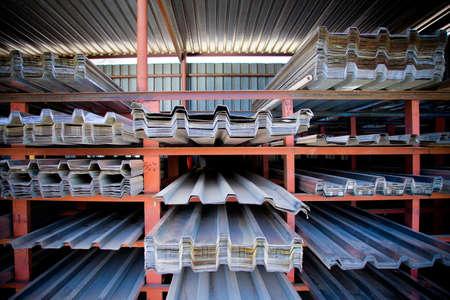 Metal sheeting desplay