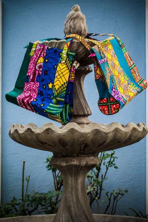 African print handbags  Stock Photo