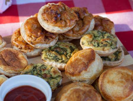 Savory Pastries display,