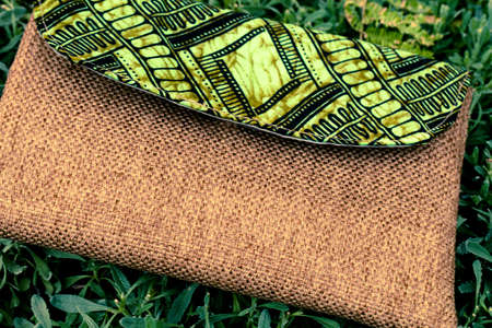 African crafted handbag Stock Photo