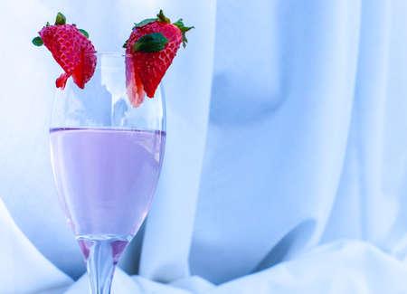 Elegant pink champagne  glass display  Stock Photo