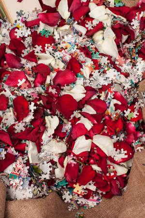 Wedding Confetti decor  Stock Photo