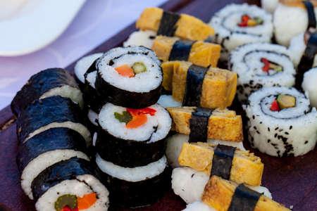 Sushi food display