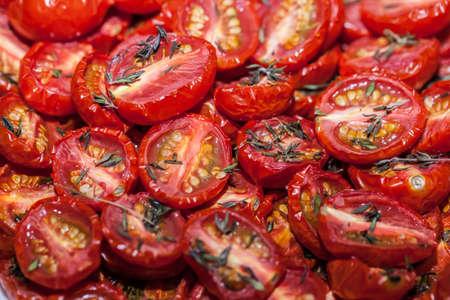 Roasted Mini Tomatoes  Stock Photo