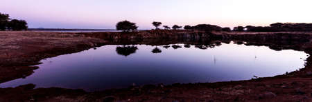 landscape twilight water reflection