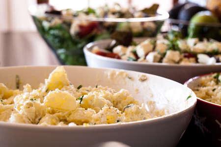 Potatoes salad display