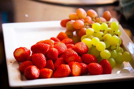 Fresh fruit on plate