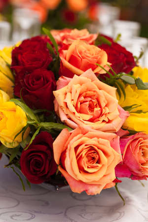 Roses bouquet display and decor Stock Photo
