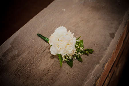 boutonniere: White Carnation Boutonniere