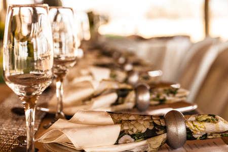 Wine glass setting table decor wedding