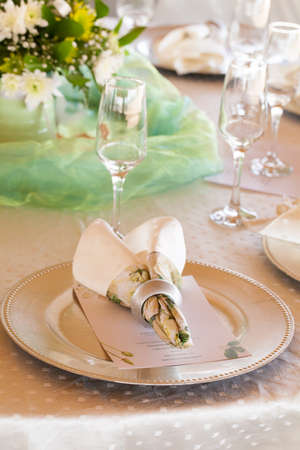 serviette: table decor wedding Stock Photo