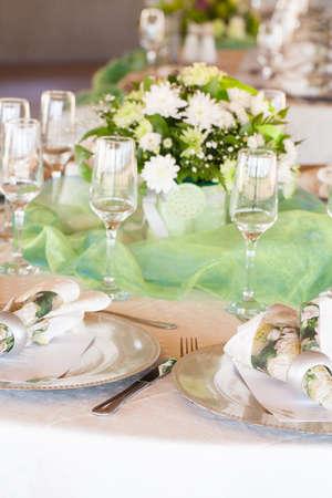Table decor Wedding Stock Photo
