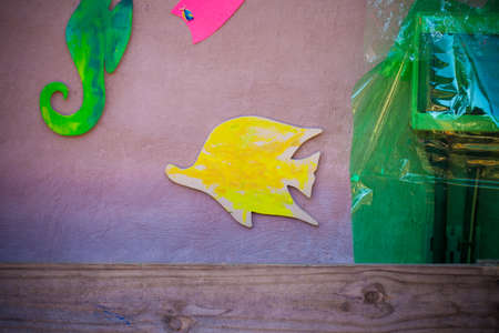 Children wall art idea Angle fish