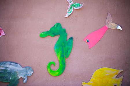 Children wall art idea Seahorse