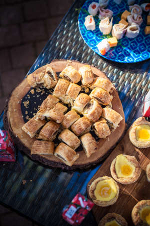 Mini Homemade sweet pastries Stock Photo