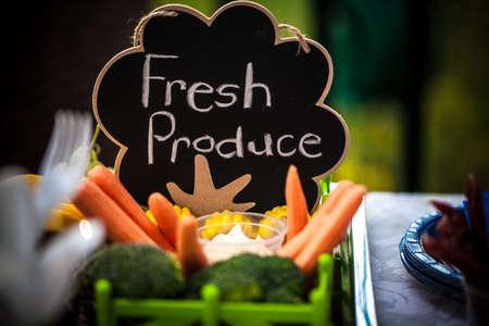 Fresh Produce chalkboard sign