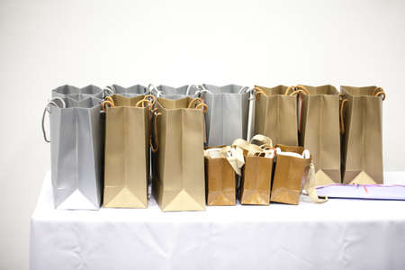 gift bags: Gift bags gold and silver big and small