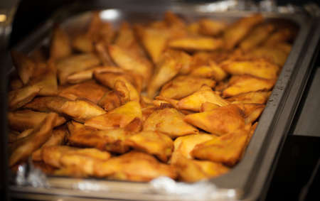 food samosa on display
