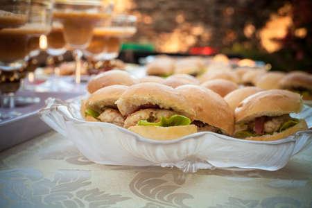 Mini Hamburgers on display