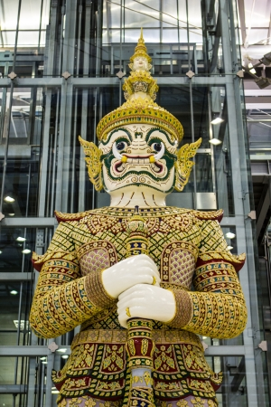 thaiart: Giant  White at Suvarnabhumi Airport Thailand Stock Photo