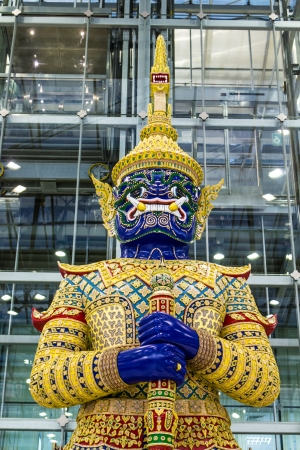 Giant  Blue at Suvarnabhumi Airport Thailand photo