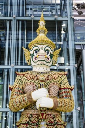 thaiart: Giant  White at Suvarnabhumi Airport Thailand Stock Photo