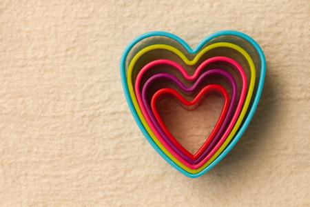 shaped: colorful heart shaped on fleece Stock Photo