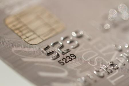 credit card macro EMV chip photo