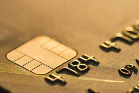 pin entry: credit card macro EMV chip