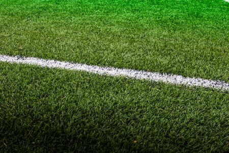 cancha de futbol: Línea de Fútbol. Foto de archivo