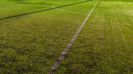 soccer pitch: Half soccer field. Stock Photo