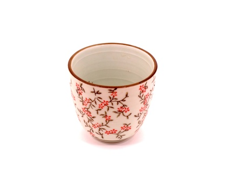 Japanese tea cup on white backgroud