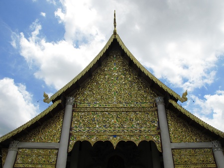 Gable roof of the temple in Thailand  Stock Photo