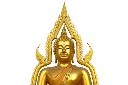 Golden Buddha half body on white background with clipping path Stock Photo - 12379518