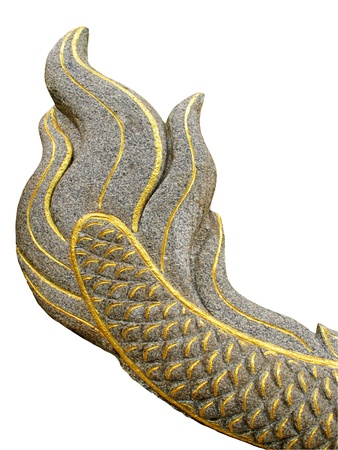Great Naga tail made from stone with clipping path