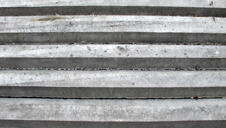 Pattern of hexagon concrete pillar on top photo