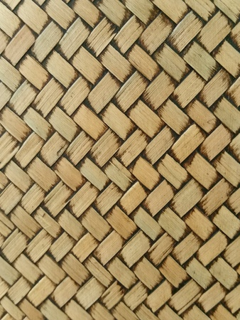 Texture pattern of brown bamboo weave