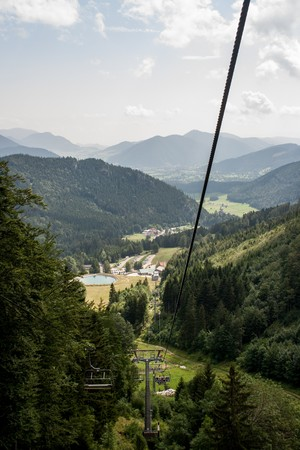 Landscape of Alps from Schneeberg