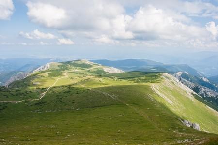 h�tte schnee: Landschaft der Alpen vom Schneeberg