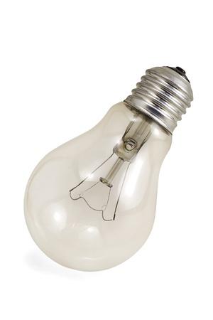 A light bulb on white background