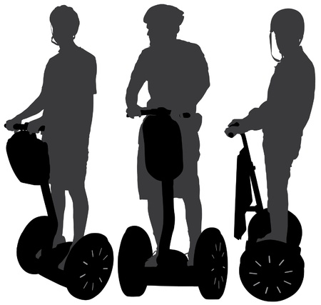 Segway Silhouette on white background