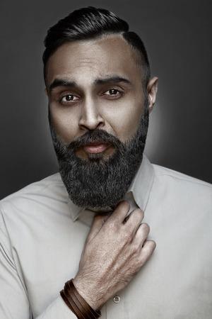 highfashion: High-fashion bearded man portrait, esquire style