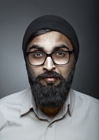 highfashion: High-fashion portrait of man with beard in glasses, esquire style